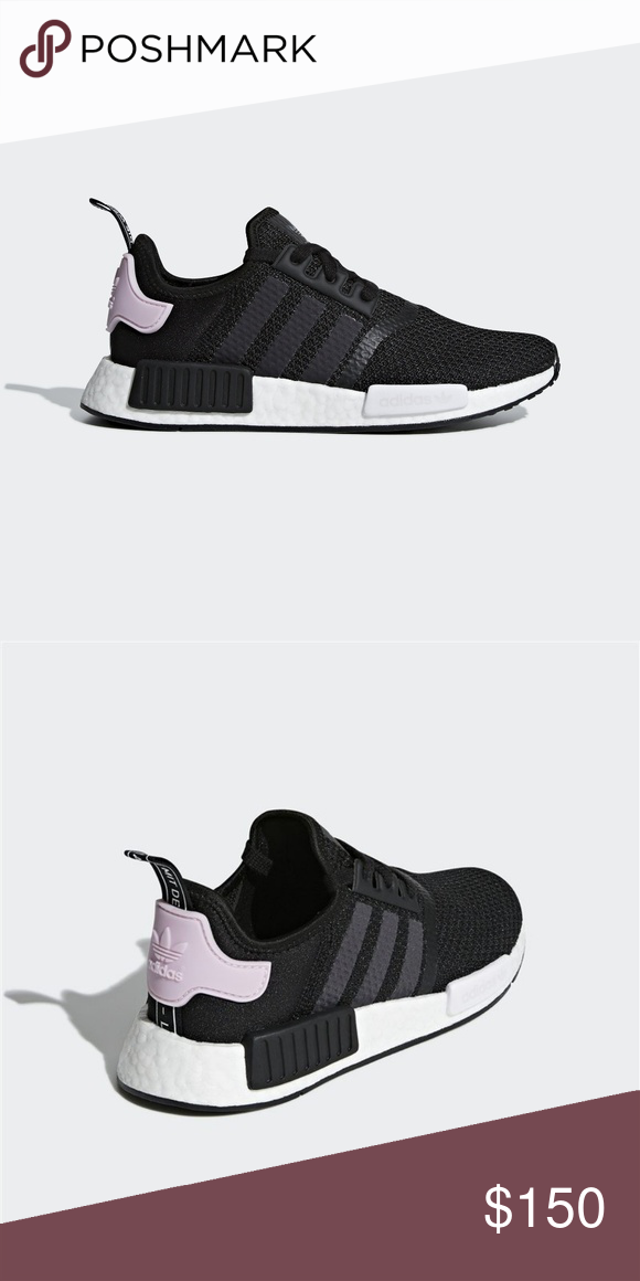 17d0b53279b18 Adidas NMD R1 Women s Shoes Black Pink New with box adidas NMD R1 sneakers  in Core Black Cloud White Clear Pink. Women s size.