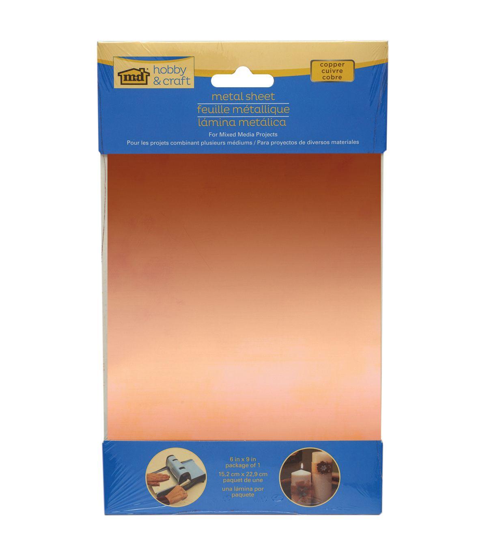 Copper Metal Sheet 6 X9 Joann Sheet Metal Crafts Copper Sheets Metal Crafts