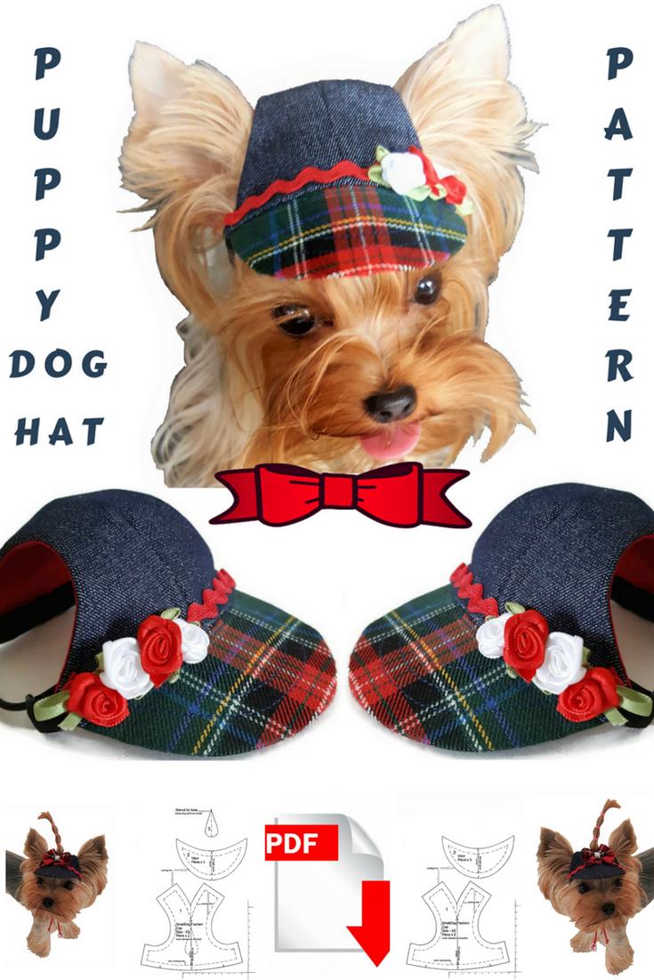 Small dog hat pattern for dog Pet hat PDF Dog hat sewing Pdf Dog ...