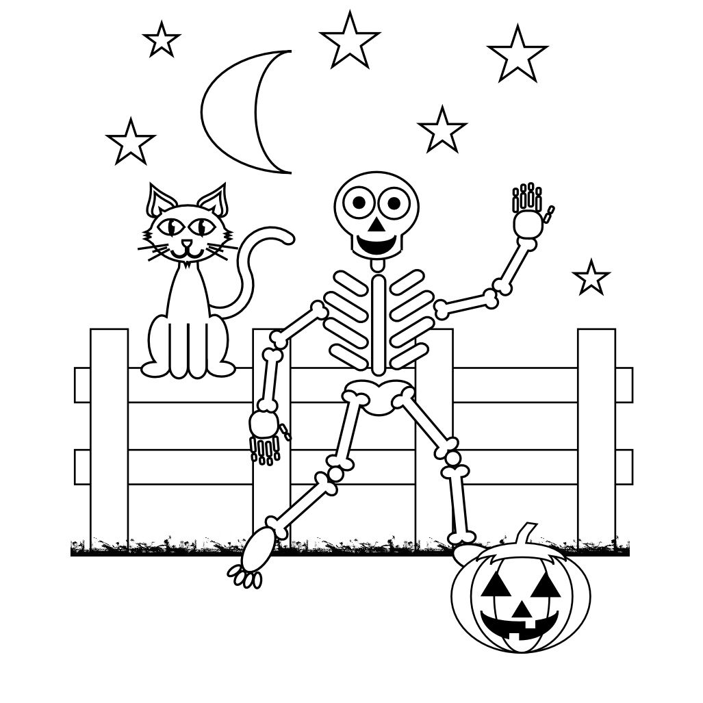 free axial skeleton coloring pages - photo#27