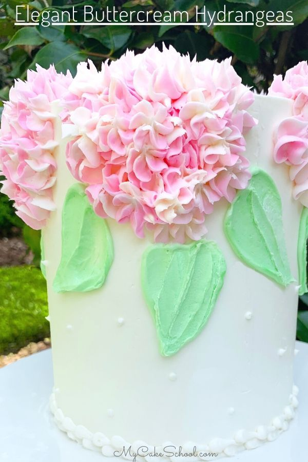 How to Make Buttercream Hydrangeas! Cake Video Tutorial