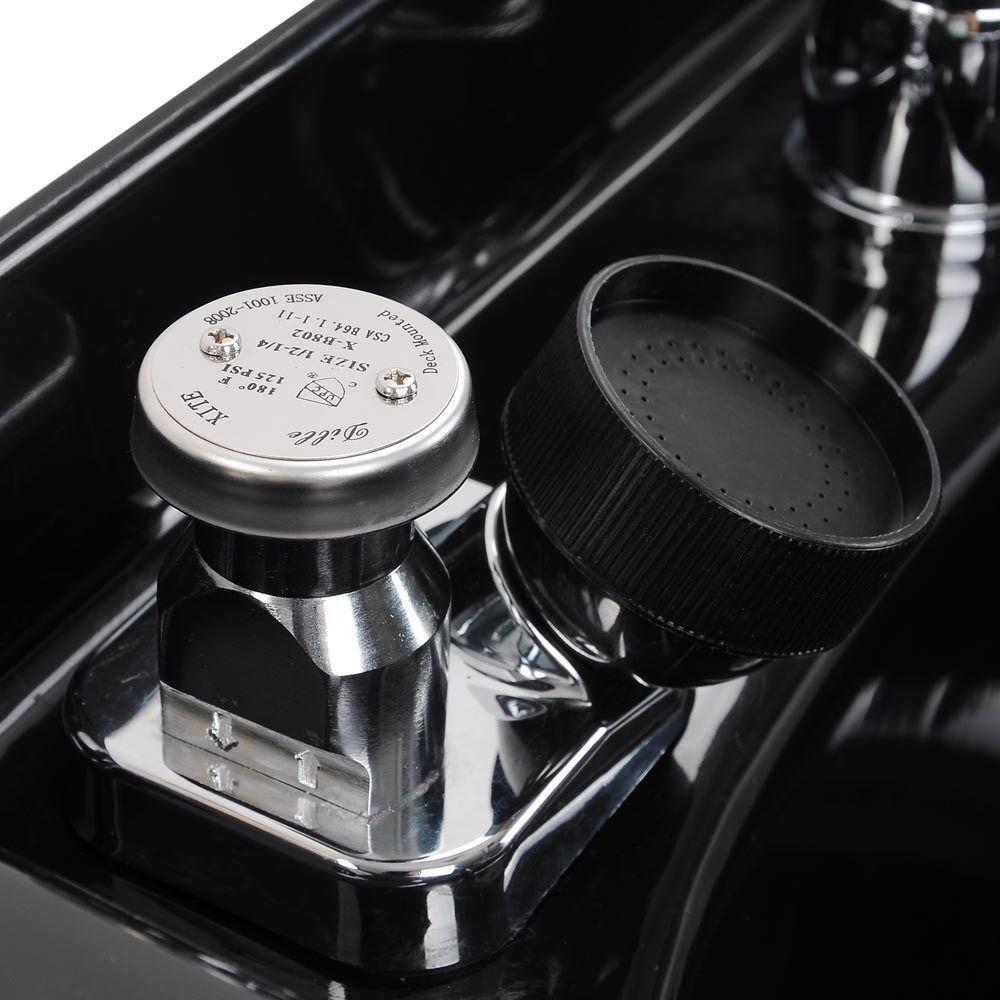 GHP 3\' Drain Silicon Gen Neck Rest Brass Faucet Vacuum Breaker Black ...