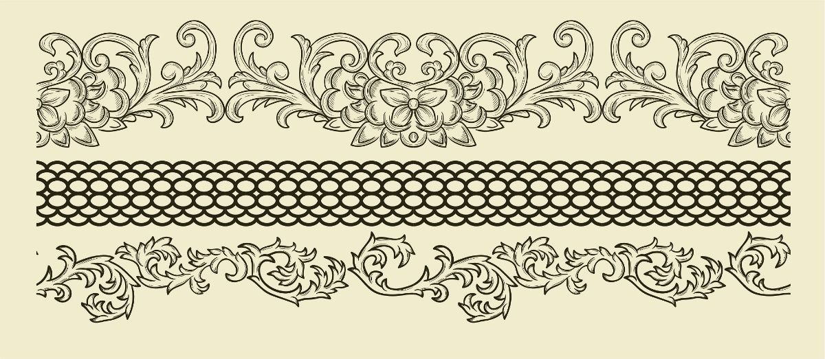 Картинки бордюры и орнаменты