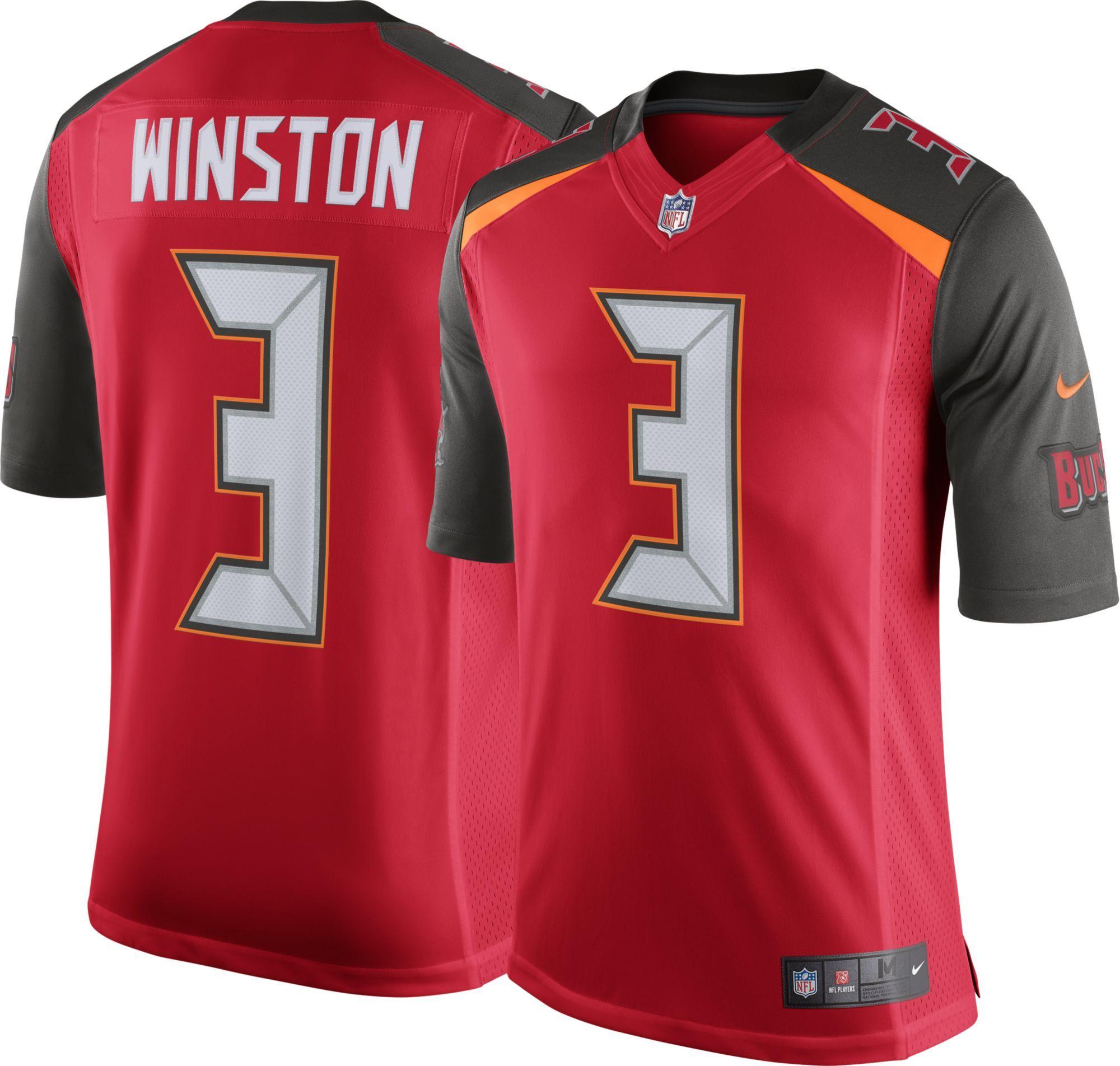 Nike Men S Home Limited Jersey Tampa Bay Buccaneers Jameis Winston 3 Nike Men Nike Men