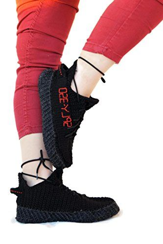 timeless design cf293 50d30 Amazon.com: Crochet Black Yeezys Athletic Boost 350 Home ...
