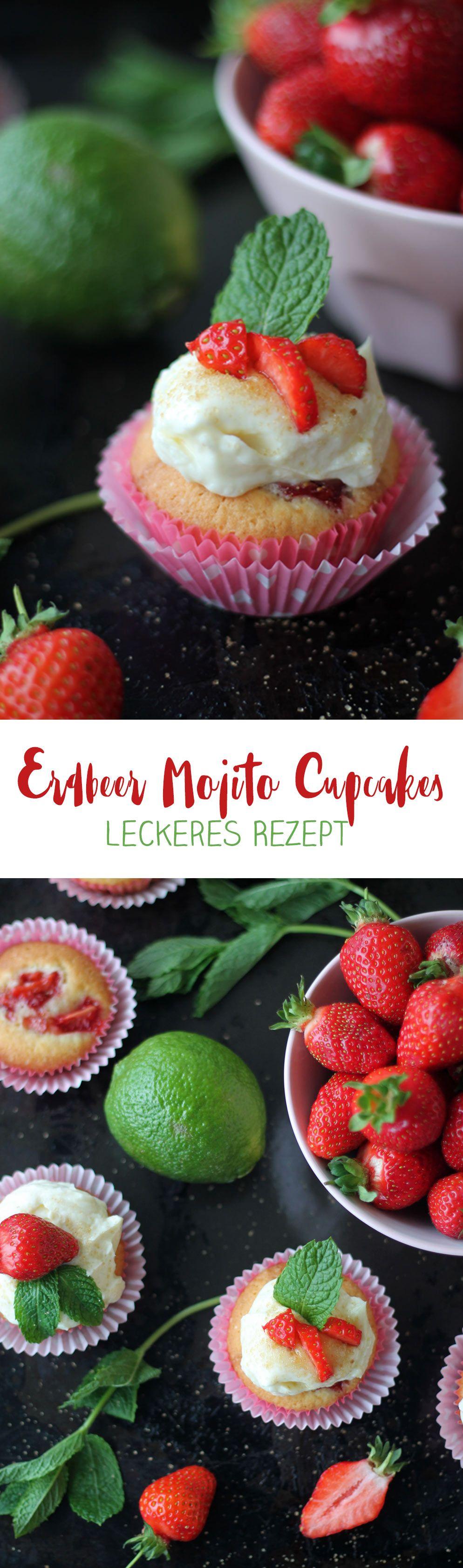 Erdbeer Mojito Cupcakes Cocktails Als Cupcakes Rezepte Rezepte Mojito Cupcakes Erdbeer Mojito