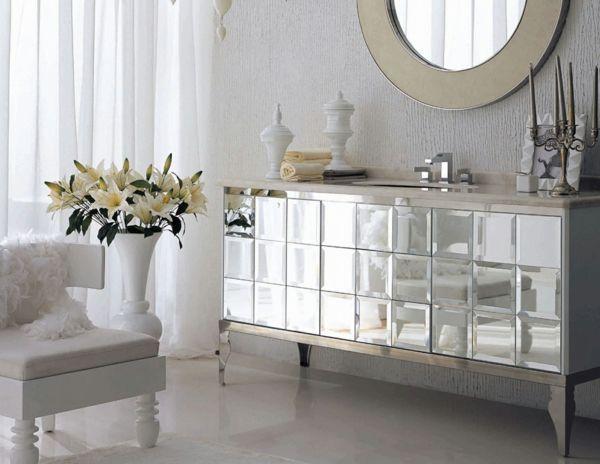 Badezimmer Zubehör ~ Badezimmer schlicht elegant silber beige einrichtungsideen
