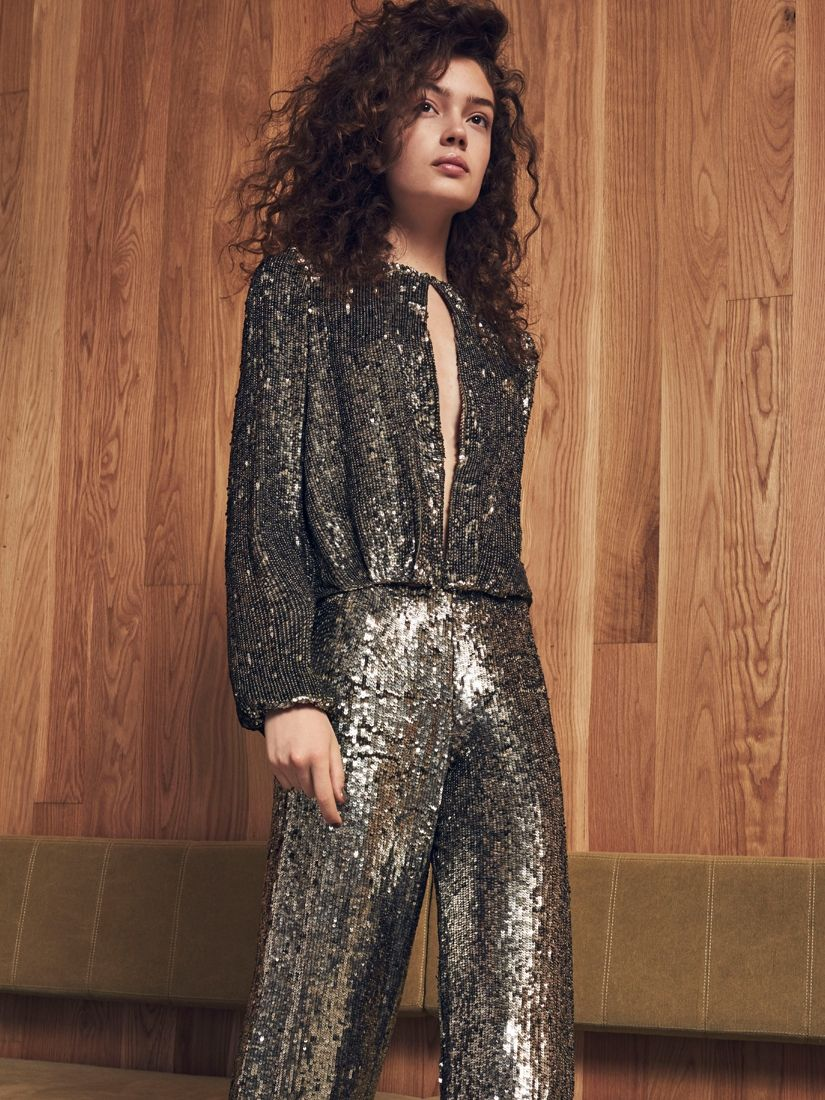 Alexis Silver alexis clothing 'liz sequin top silver' tops |shop splash