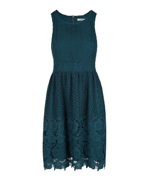 Sleeveless Crocheted Lace Dress