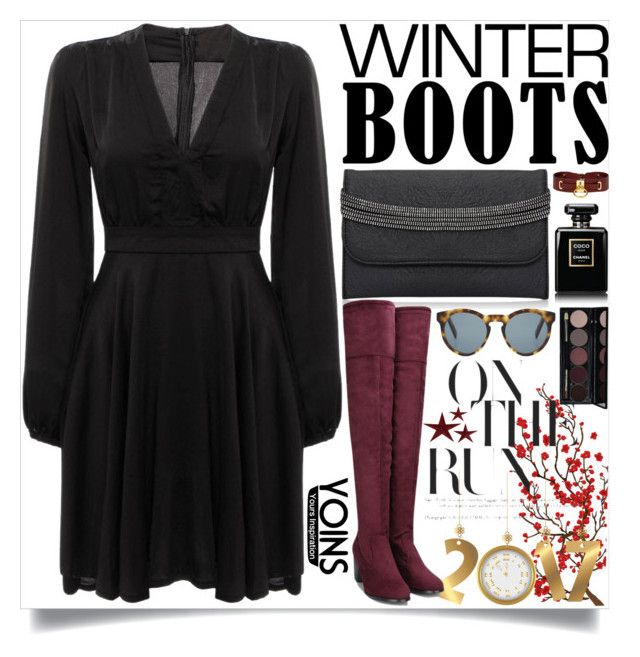 """""""Yoins:Black Dress"""" by loveyoins ❤ liked on Polyvore featuring Brewster Home Fashions, Zana Bayne, Chanel and DICK MOBY"""
