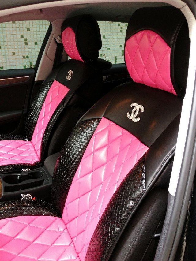 Wholesale Luxury Diamond Chanel Universal Automobile Leather Car Seat  Wholesale Luxury Diamond Chanel Universal Automobile Leather Car Seat ...