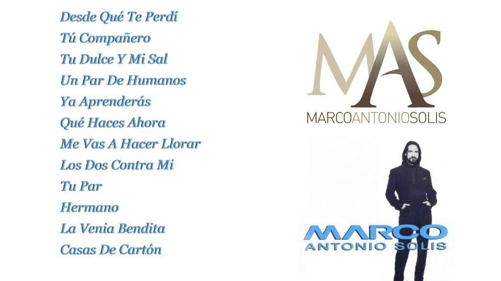 Marco Antonio Solís - Marco Antonio Solís (Full Album) | AMOR ES ...