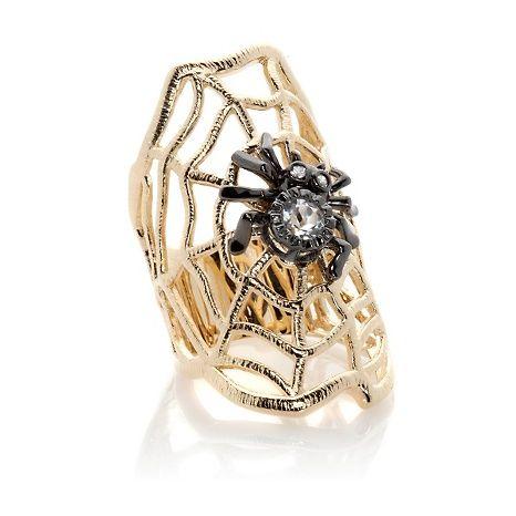 Rarities .54ct Topaz and Zircon Web & Spider Ring