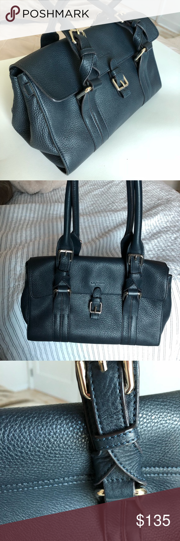 e5a2439c2d4d L. K. Bennett genuine pebbled leather  Emma  bag Beautiful medium-sized L.K.  Bennett genuine