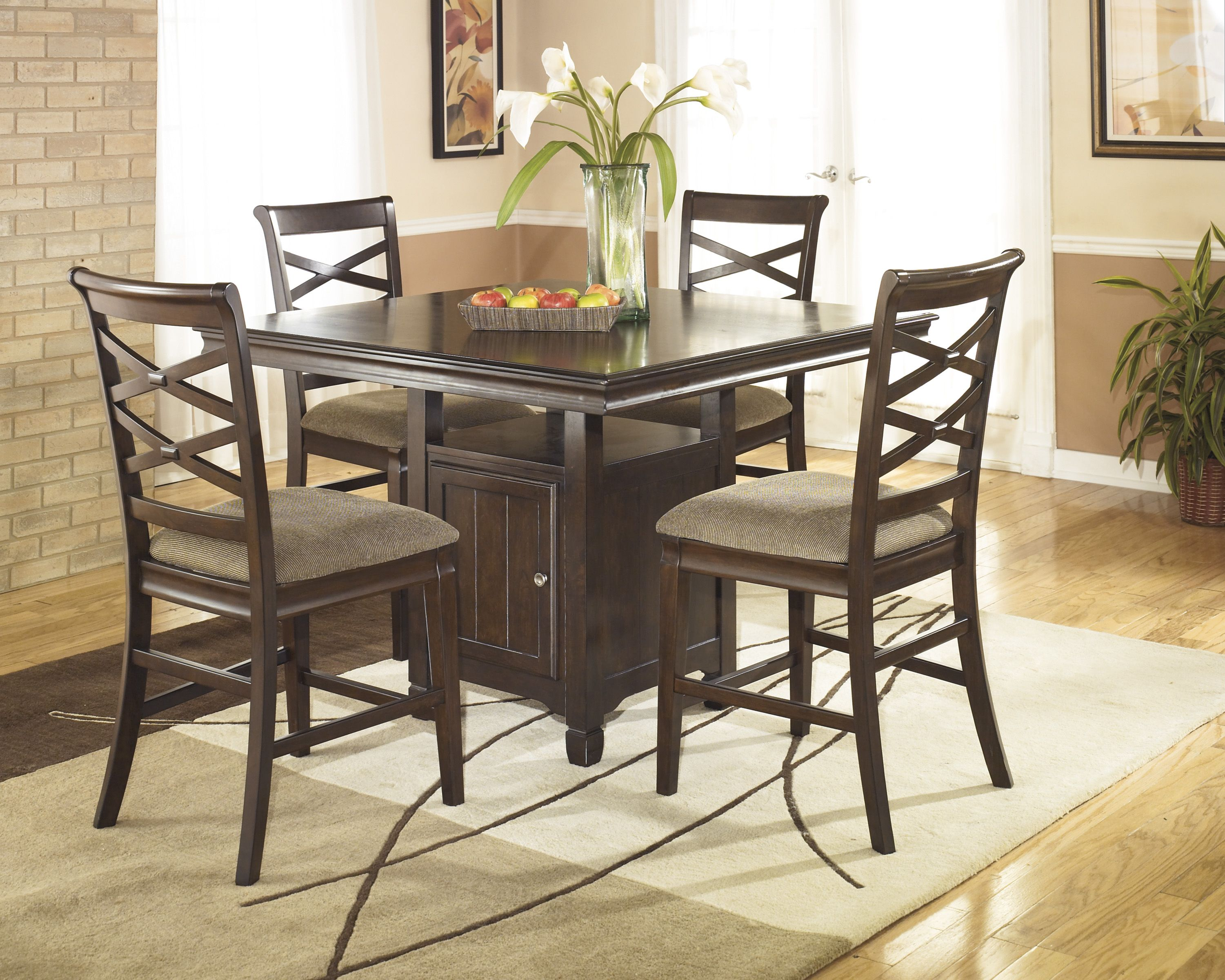 D12 in by Ashley Furniture in Wichita, KS - Square Dining Room