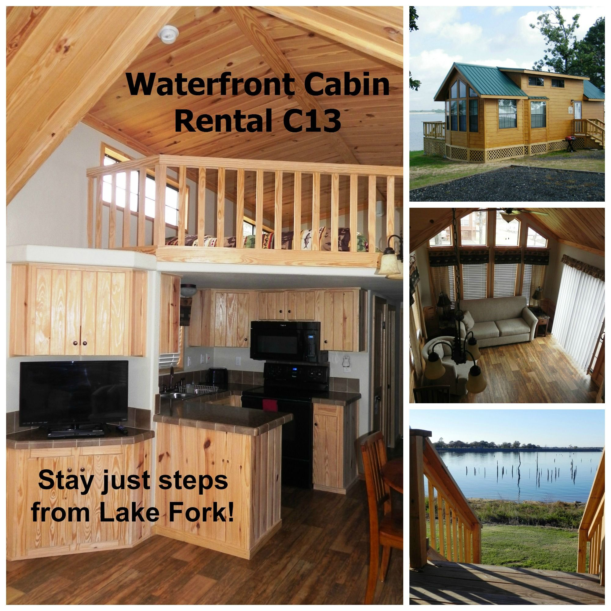 1 of 5 lake fork waterfront cabins we have available www