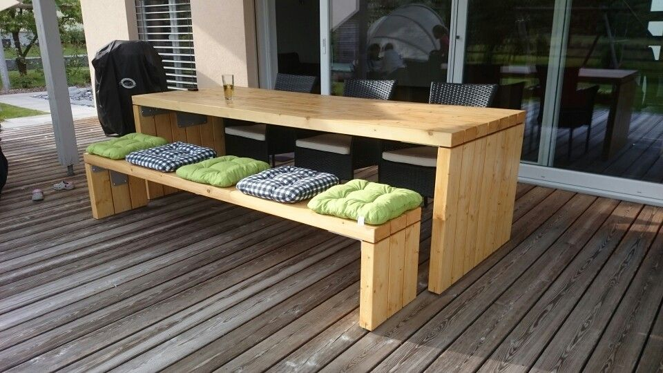 gartentisch holz terrasse pinterest. Black Bedroom Furniture Sets. Home Design Ideas