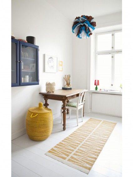 Kunststoff In- \ Outdoor Läufer Helmi Gelb #benuta #teppich #küche - teppiche für die küche