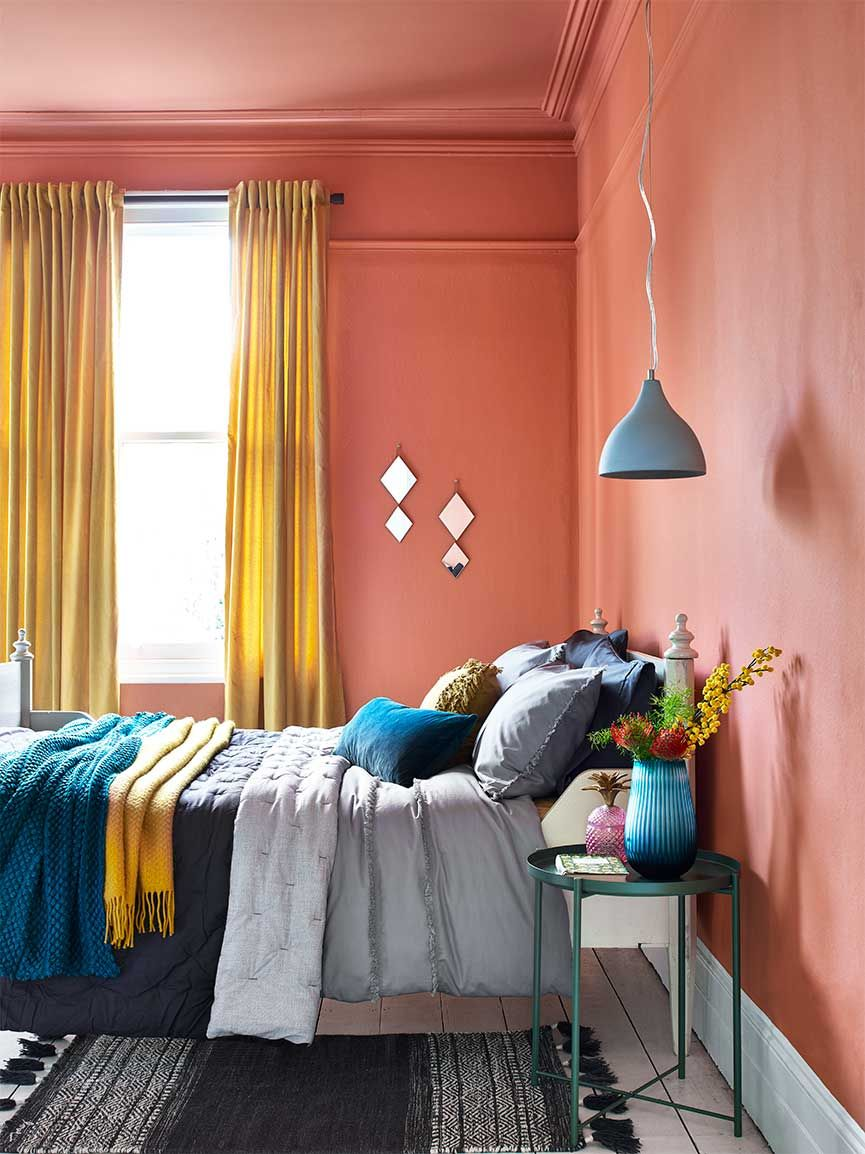 Win the Room bedroom Living room colors, Copper living