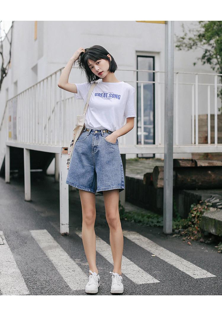 High Waist Wide Leg Denim Shorts For Women New Jean Shorts Women In 2020 Wide Leg Denim Jeans For Short Women Womens High Waisted Shorts