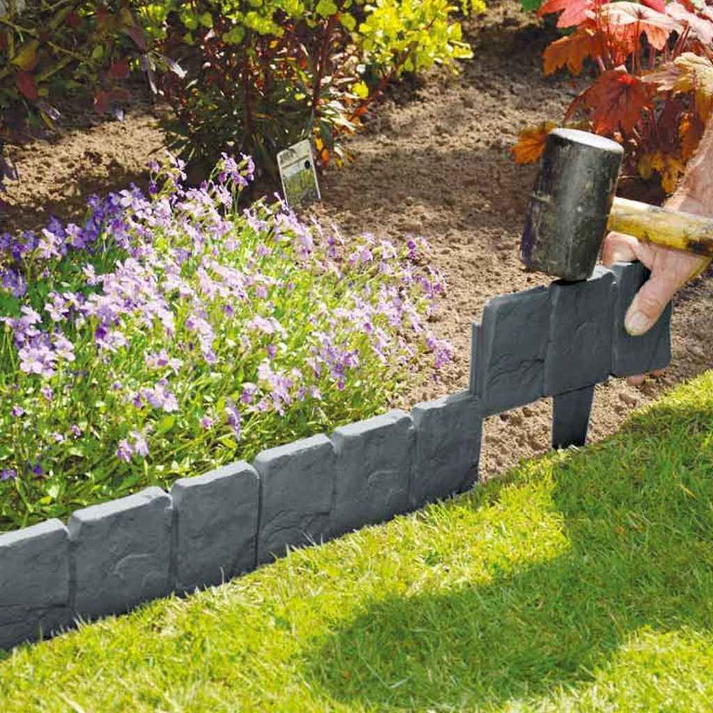 36 Simple Cheap Diy Garden Bed Edging Ideas For Your Garden With Images Landscape Edging