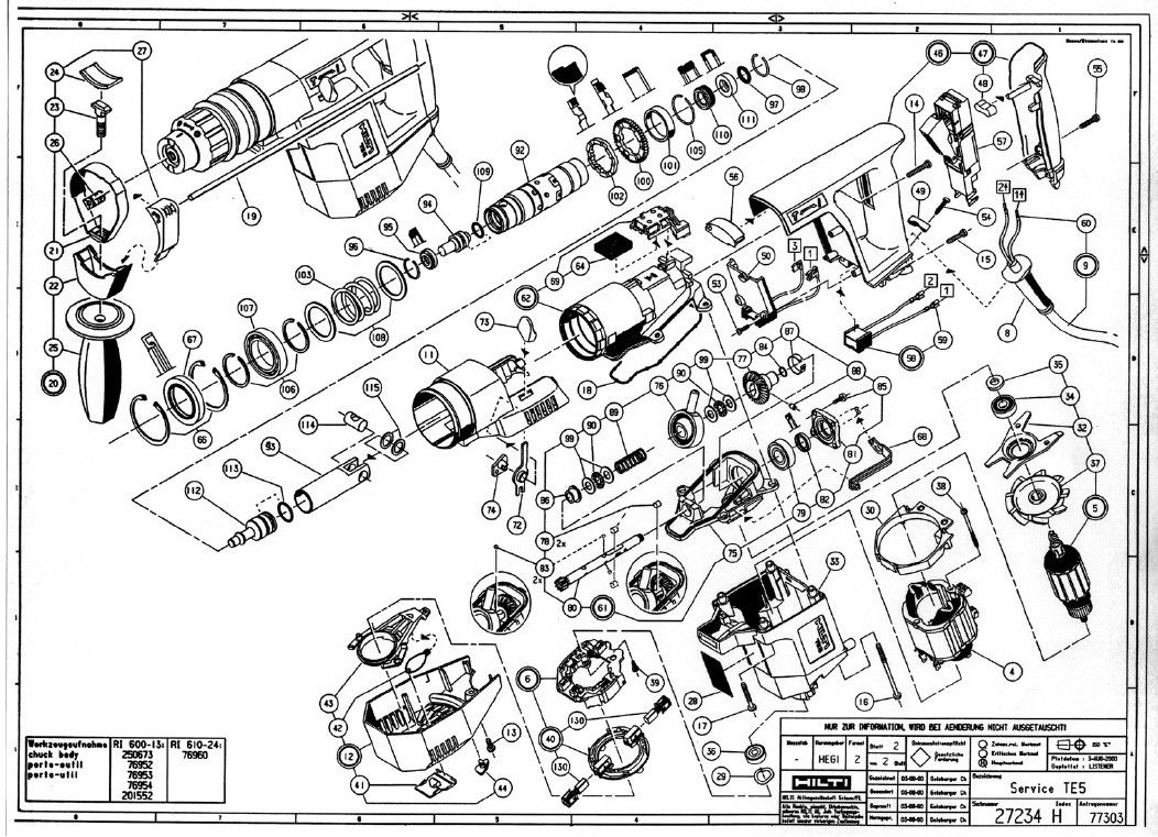 Hilti Te 5 Exploded View More