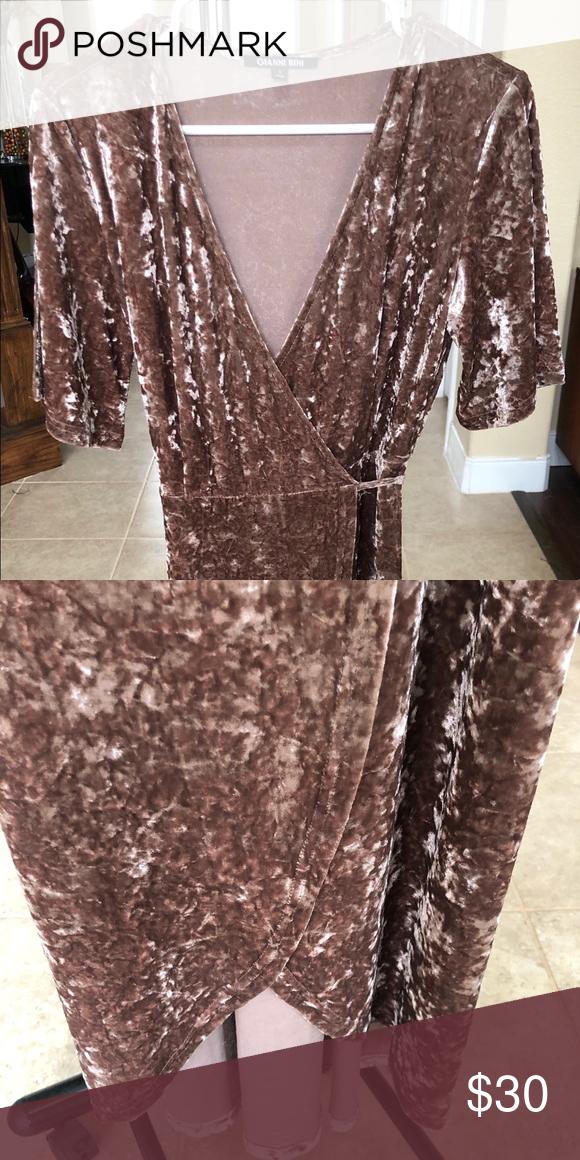 6d4bee0106 Velvet Wraparound dress Velvet wraparound dress Gianni Bini Dresses High Low