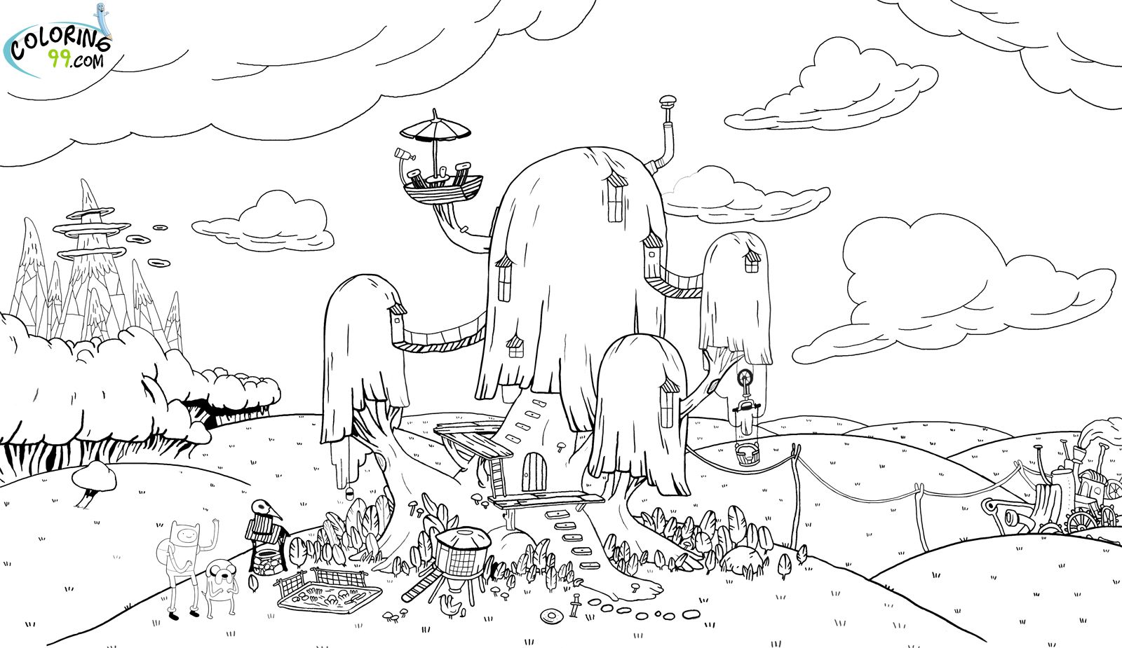 adventure time coloring pages for kidsjpg 1600 - Adventure Time Coloring Pages
