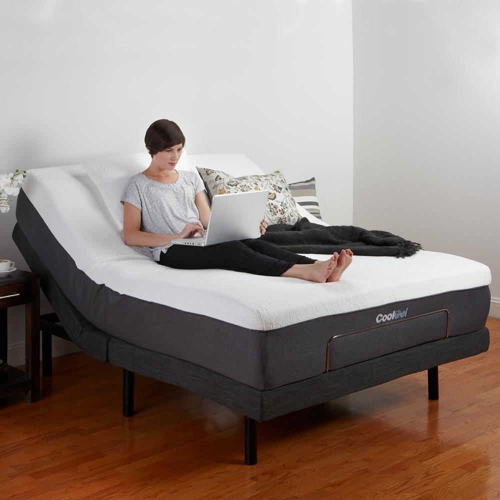 Adjustable Comfort Queen Size Adjustable Bed Base Gray Adjustable Beds Adjustable Bed Frame Adjustable Bed Base