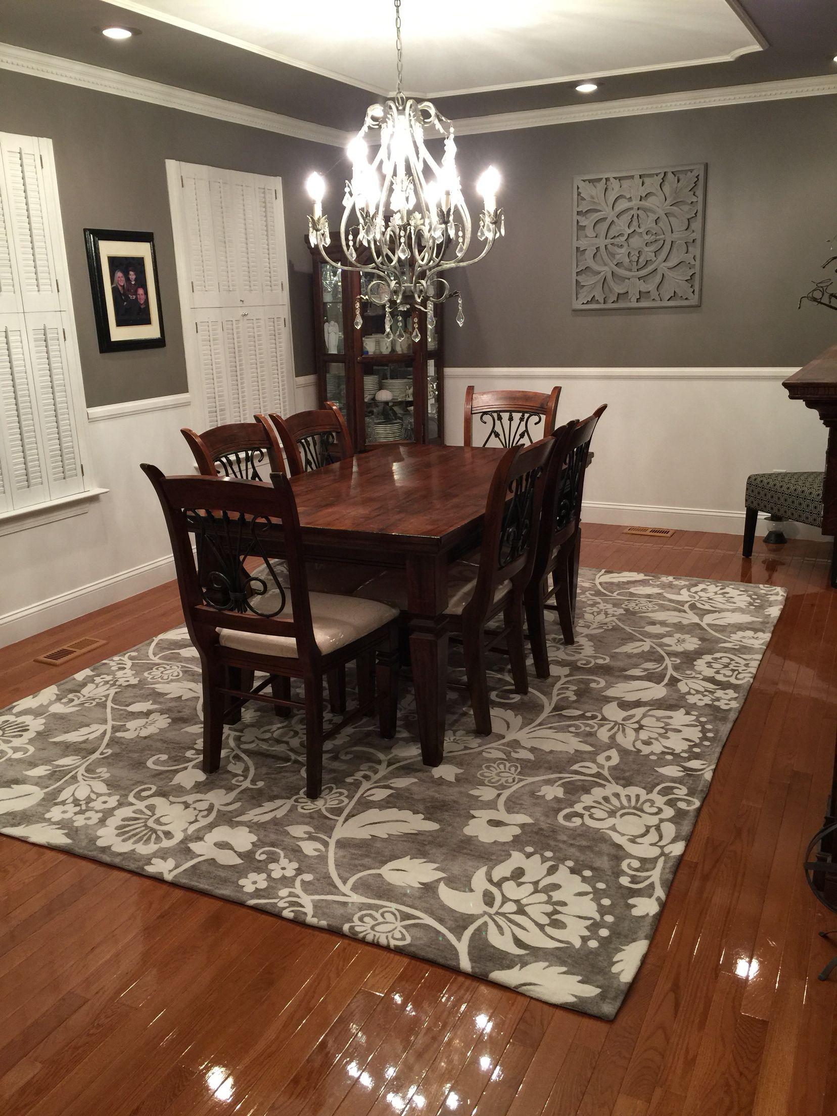 i'm loving my new gray dining room paint  elephant skin
