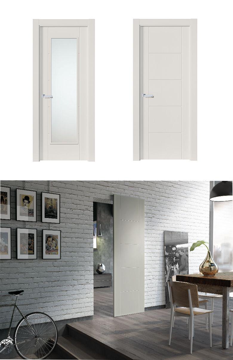 Puerta de Interior Blanca   Modelo Warhol de la Serie Lacada de ...