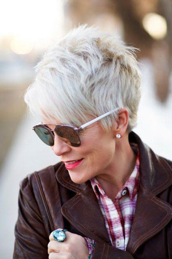 grey is the new black 30 frisuren f r graue haare haircuts pinterest graue haare omas. Black Bedroom Furniture Sets. Home Design Ideas