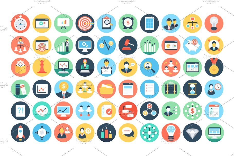 125 Flat Project Management Icons FlatProjectIcons