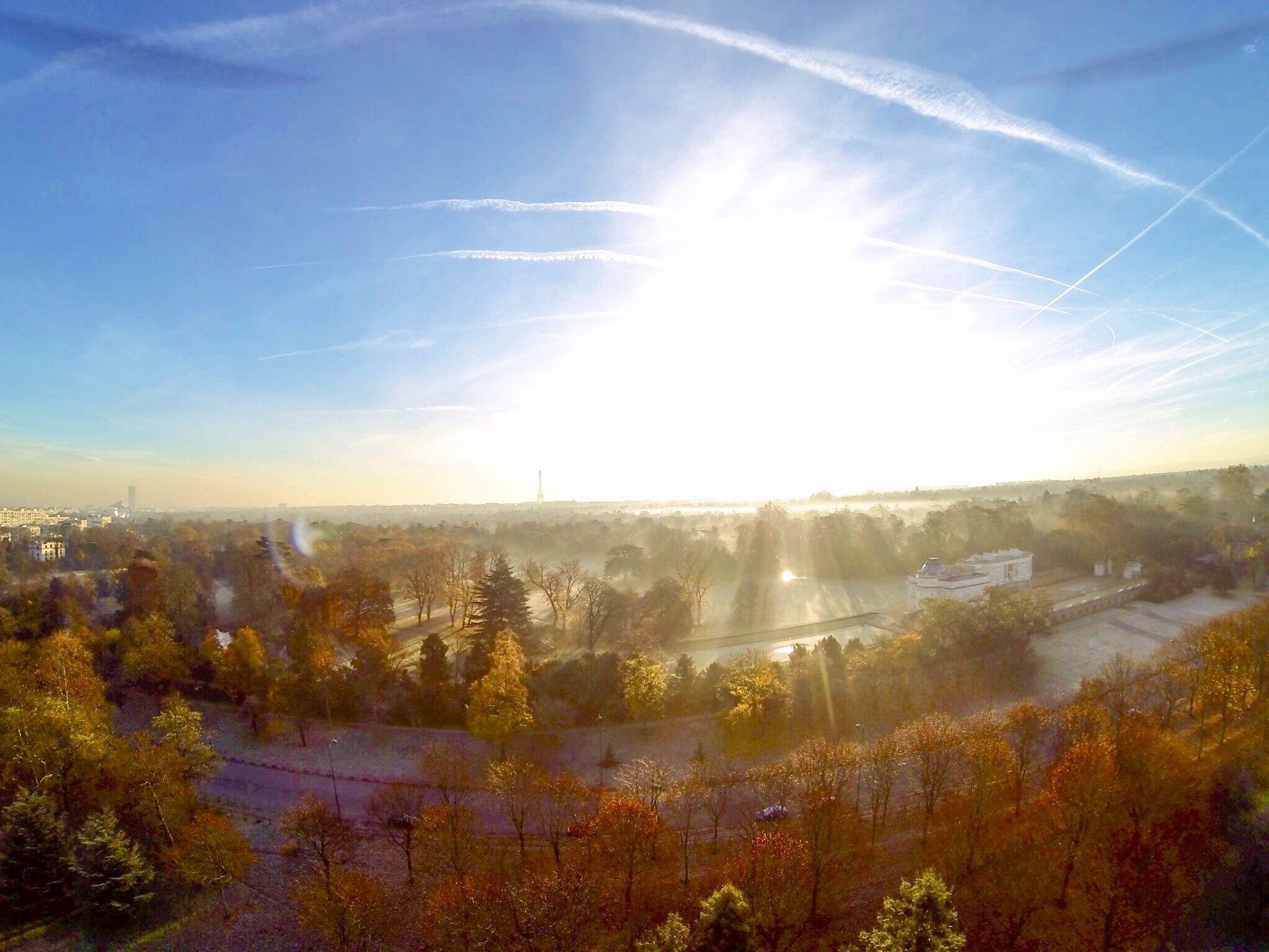 Paris drone view.