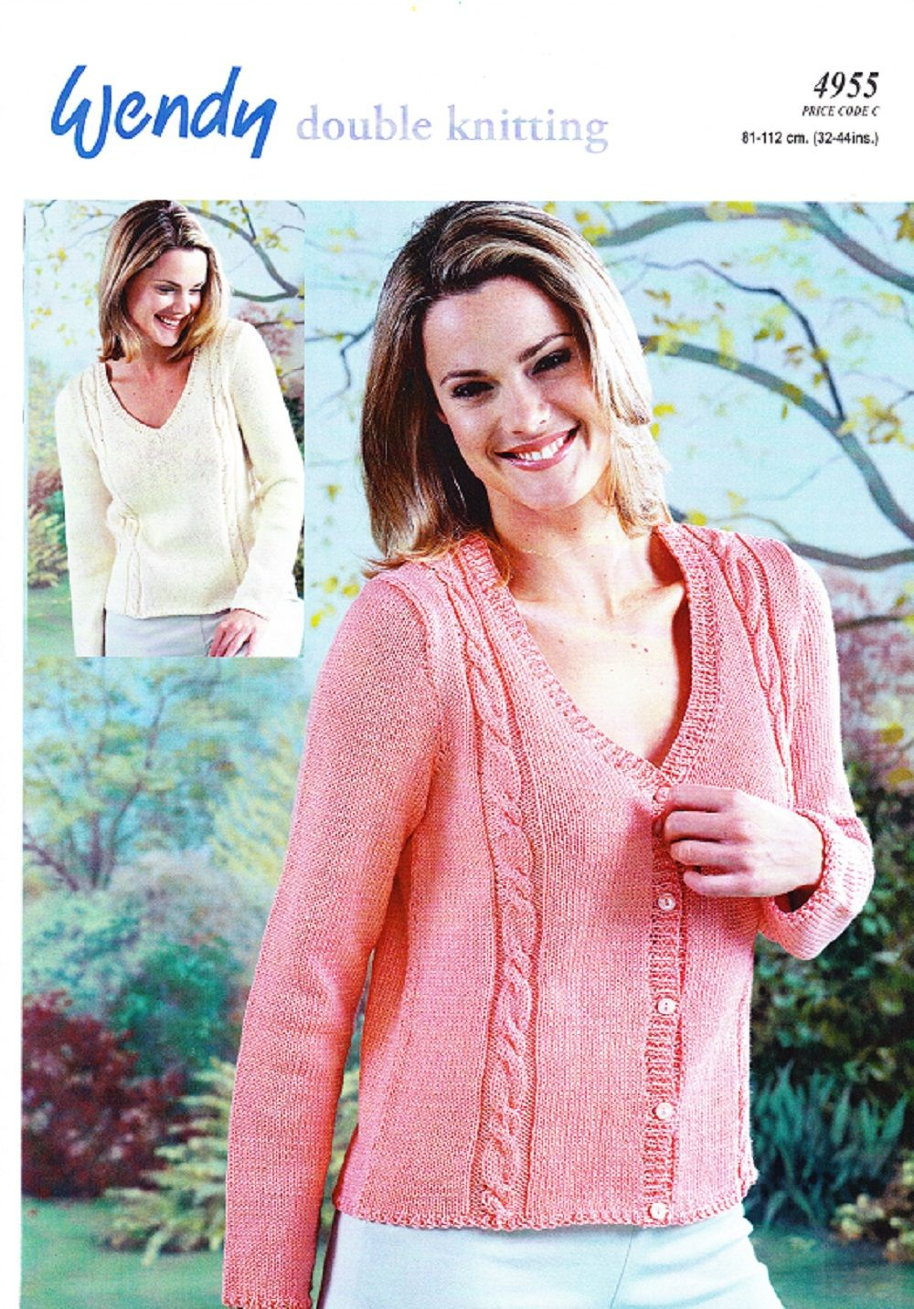 Wendy knitting pattern 4955 dk ladys v neck sweater cardigan wendy knitting pattern 4955 dk ladys v neck sweater cardigan bankloansurffo Image collections