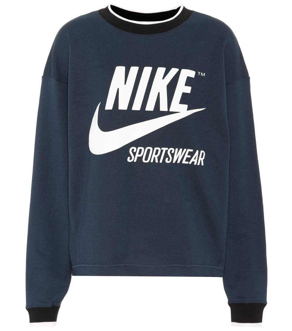 Nike Printed Cotton Blend Sweatshirt In Armrev Modesens Sweatshirts Printed Sweatshirts Nike Shirts [ 1088 x 962 Pixel ]