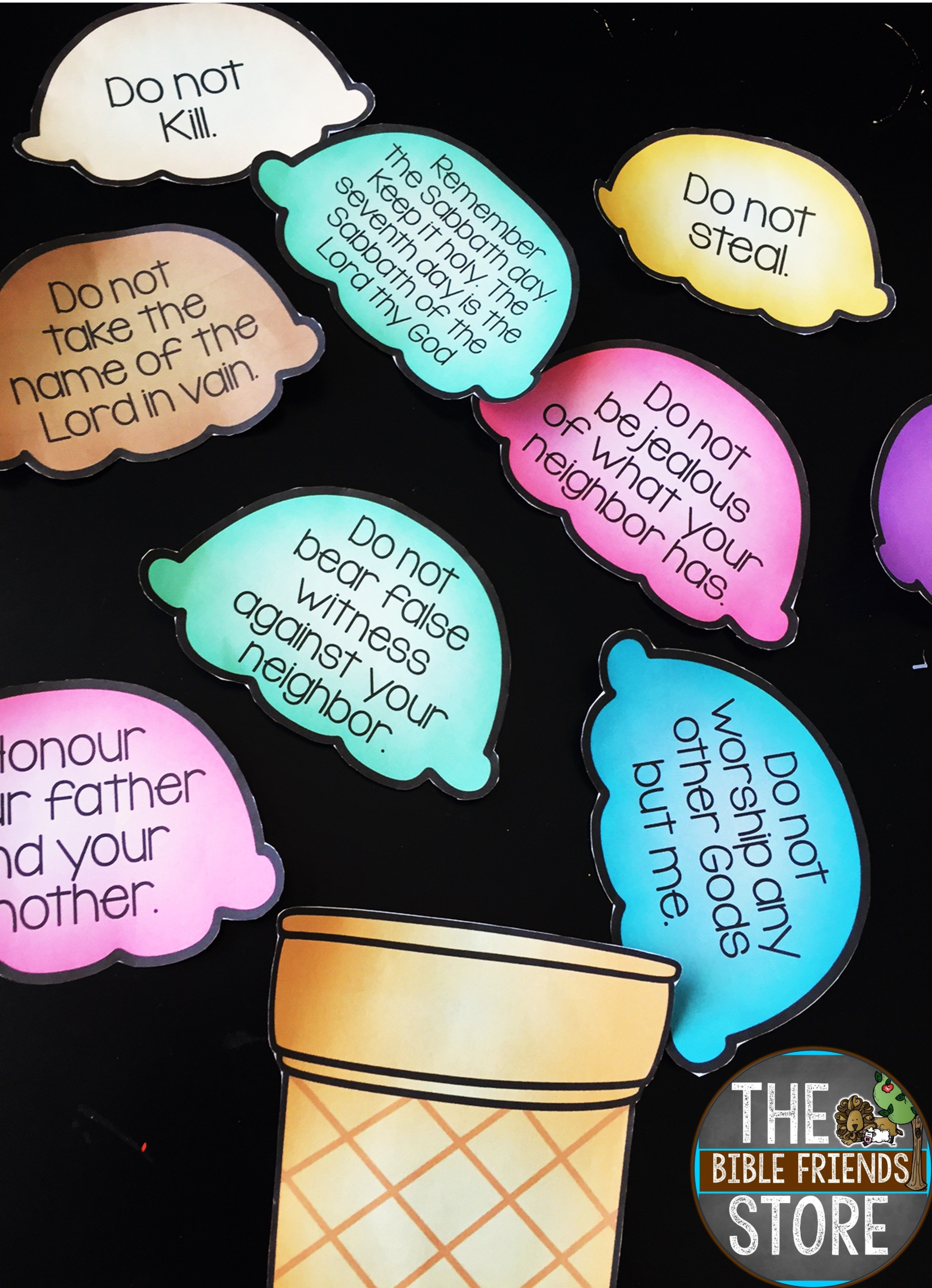 Teaching Toddlers Thursday >> 10 Commandments Scoops | 10 commandments, Learning and Sunday school