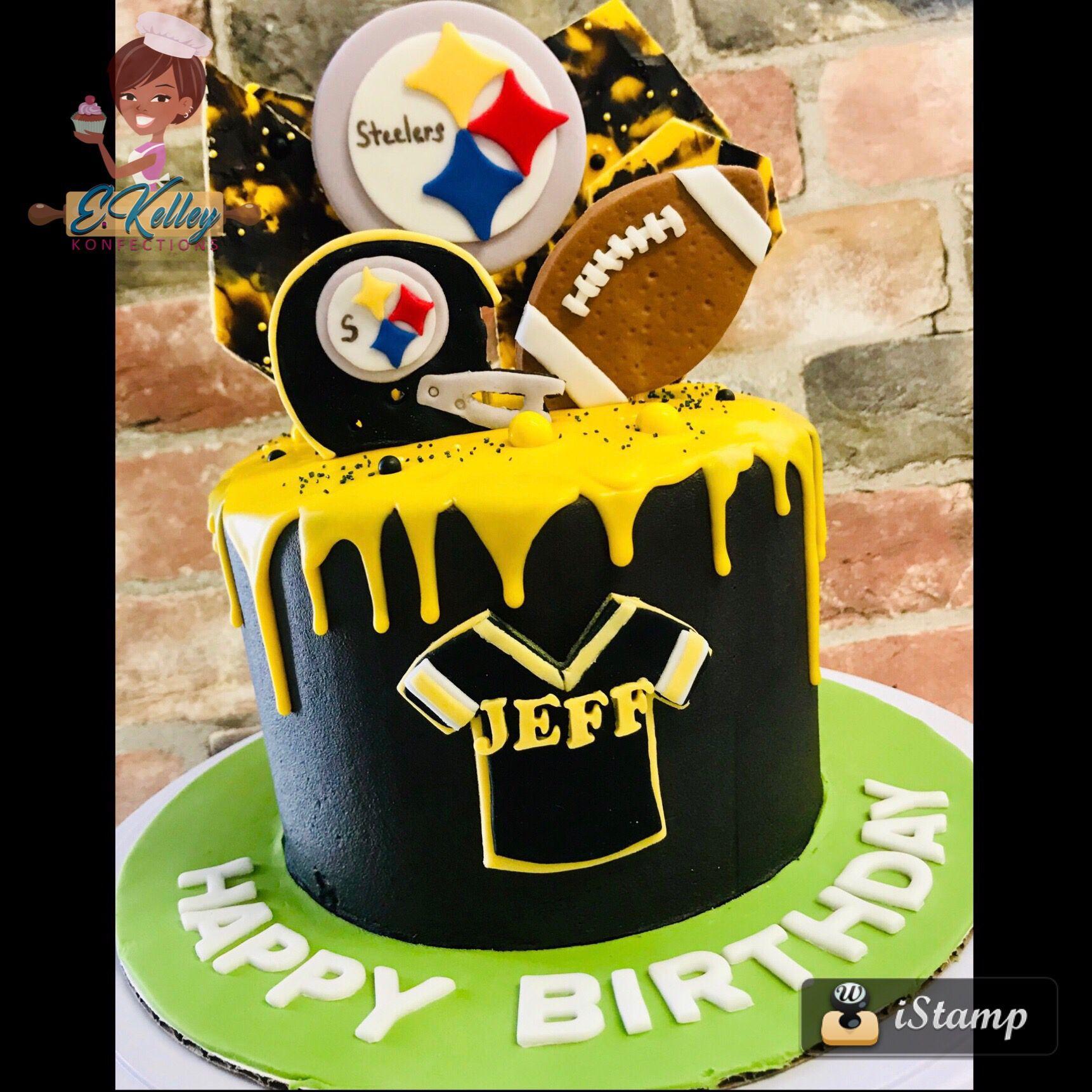 Drip Cake Football Cake Steelers Cake Cake Drip Cakes Football Cake