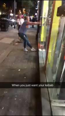 Geez... give her that damn kebab already!