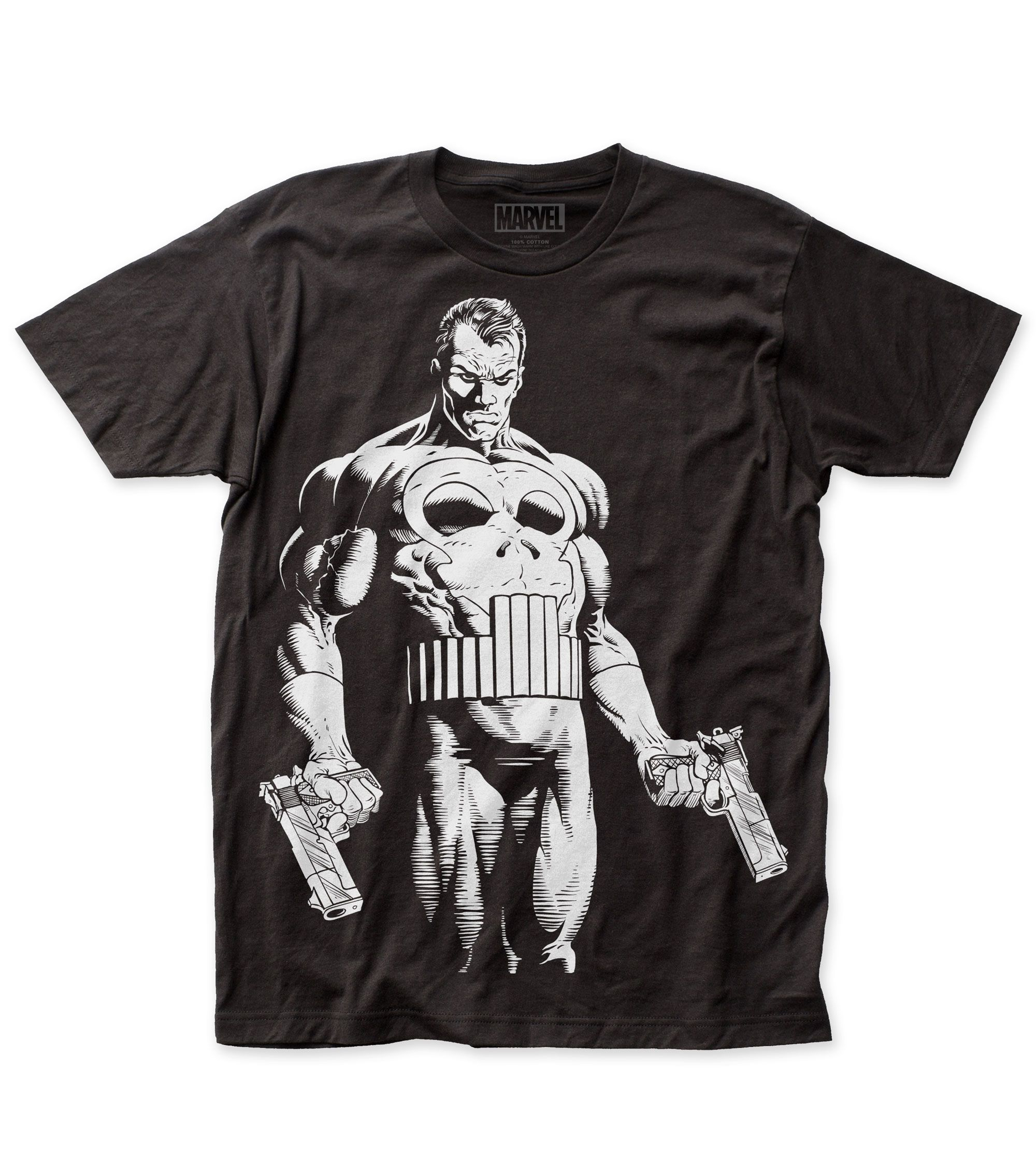 Official Marvel Comics Punisher Skull distressed Tee The Punisher T-Shirt