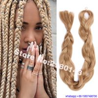 42 Inch Folded Super Long Synthetic Hair Jumbo Braids 165g Solid