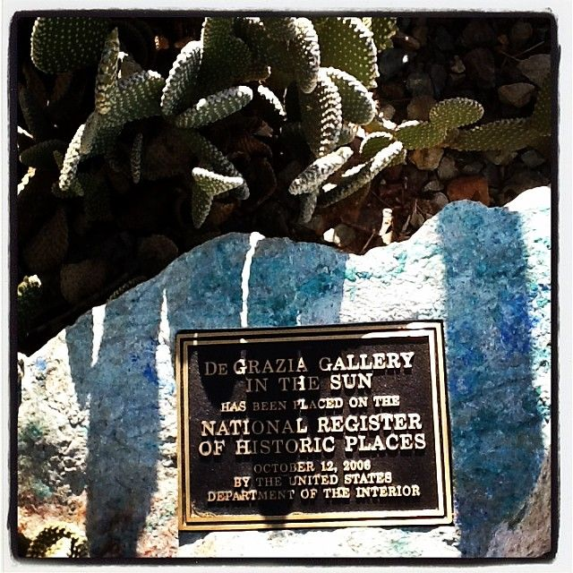 The Gallery in the Sun is open daily from 10-4, free admission. #NationalHistoricDistrict #DeGrazia #Artist #Ettore #Ted #GalleryInTheSun #ArtGallery #Gallery #Adobe #Architecture #Tucson #Arizona #AZ #Catalinas #Desert
