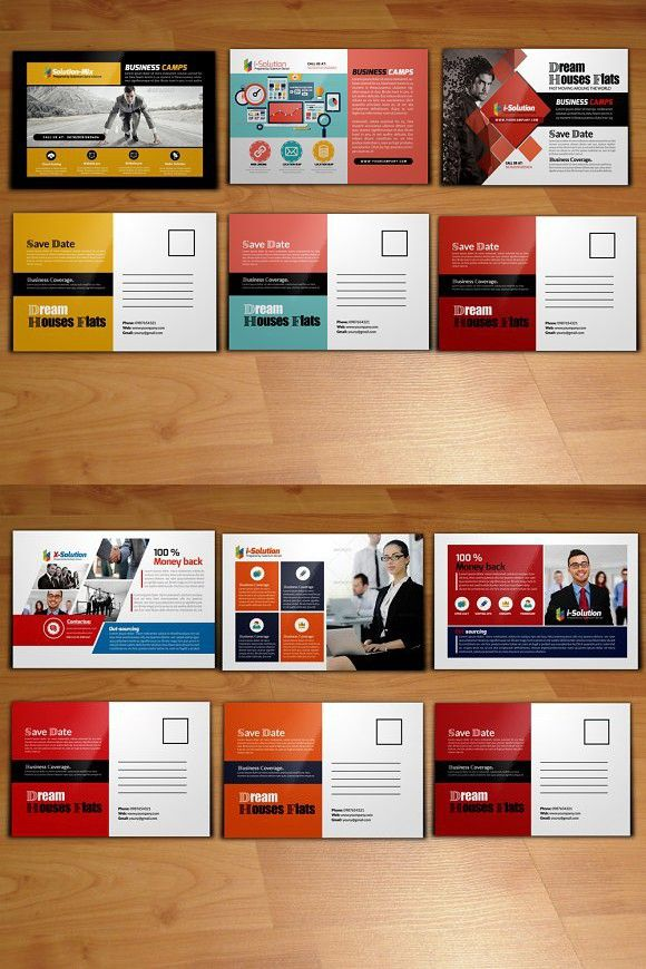 6 business postcard template bundle business postcards postcard 6 business postcard template bundle business postcards postcard template and template flashek Images