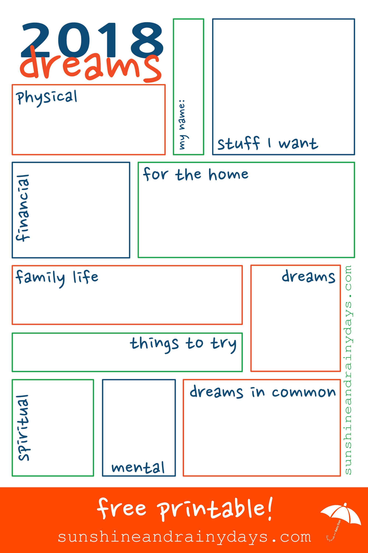 2018 Dream Sheet