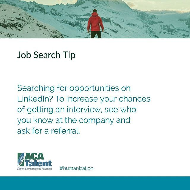 Sometimes it\u0027s who you know #JobSearchTips #TuesdayThoughts