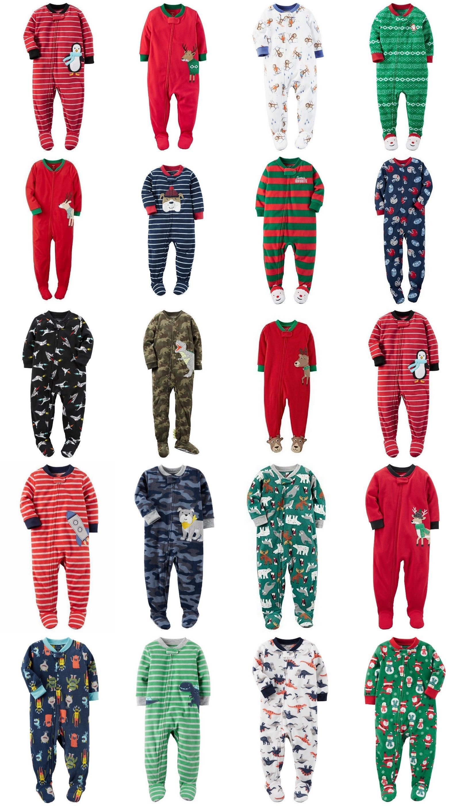 8e75a5265529 Sleepwear 147336  Carters Nwt 6 12 18 24 Month 2T 3T 4T 5T Footed ...