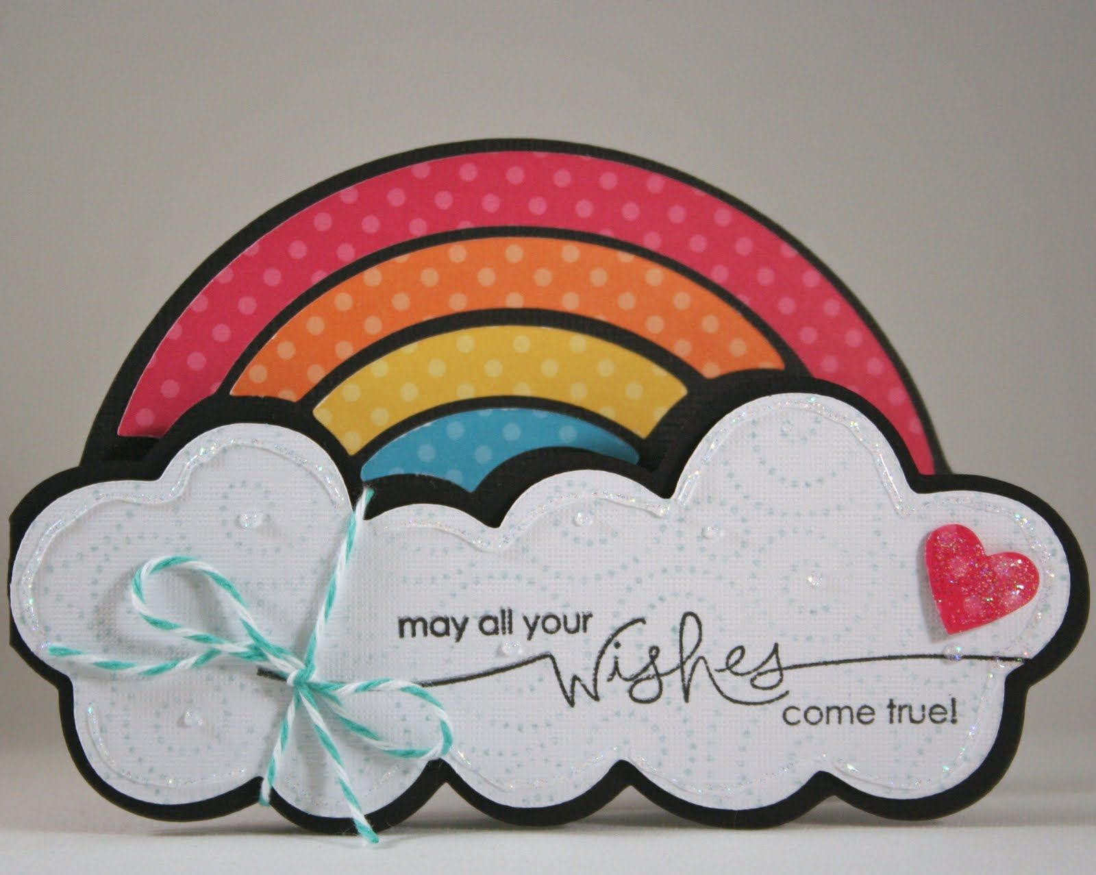 Hello kitty scrapbook ideas - Hello Kitty Greetings Cricut Cartridge Rainbow And Cloud Card