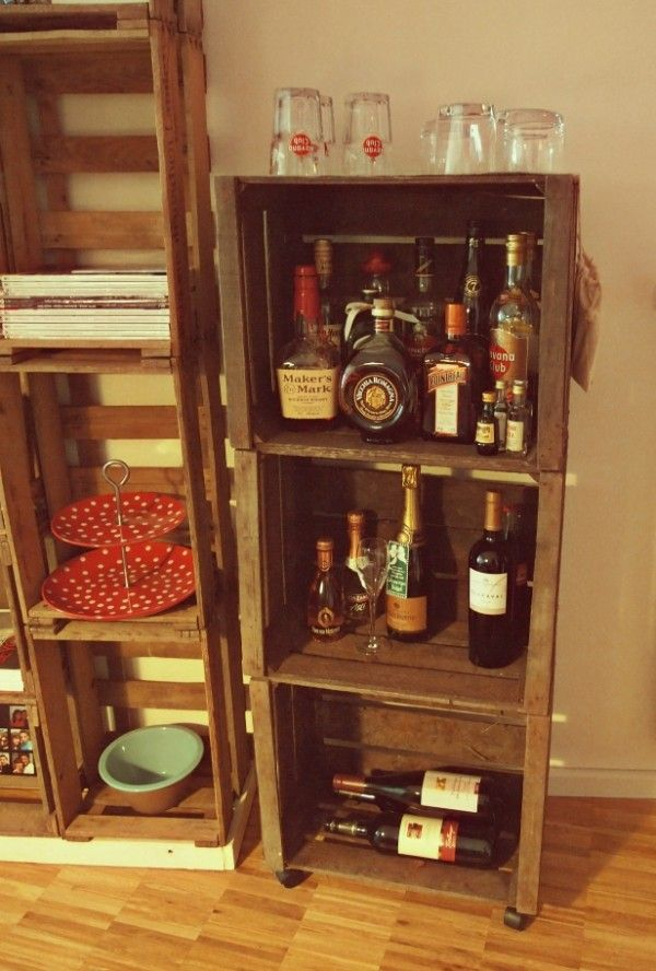 Contemporary home mini bar design inspirations for small for Mini bar decorating ideas