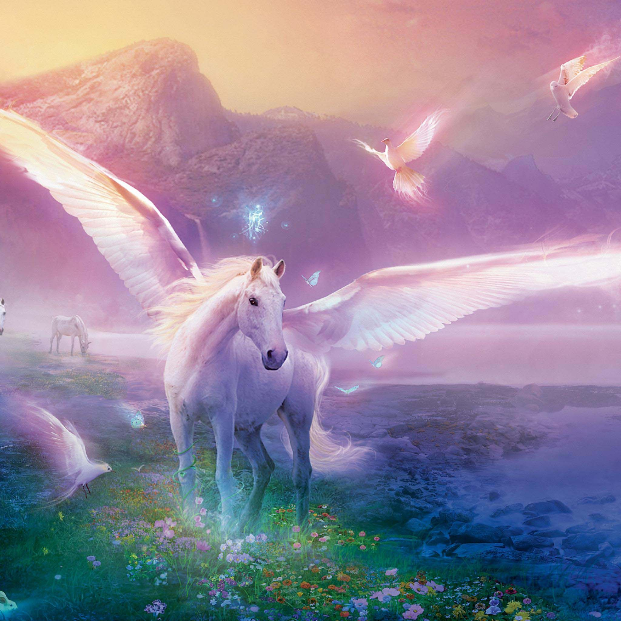 Wallpaper Hd Unicorn Fantasy Mythical Creatures Fantasy Horses