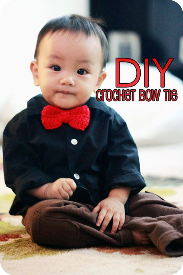 momma crochets: Crochet DIY: Bow Tie